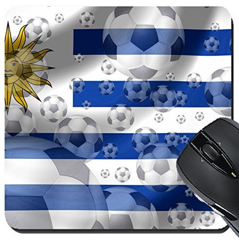 MSD Suqare Mousepad 20,3x 20,3cm Maus Pads/Matte Design: 8879939Fußball Uruguay - Inspirierende Fußball