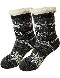Hombre Calcetines térmicos ricos en algodón para resbalón para el invierno [033]