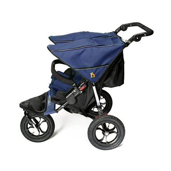 Out n About Nipper Double v4 Stroller  suitable from birth to approx 4 years new auto lock clips together when stroller is folded now with individual seat hoods instead of one large sunhood 2