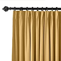 ChadMade Pinch Pleat 42W x 84L Blackout Lined Velvet Curtain Drapery Panel (1 Panel) For Traverse Rod or Track, Living room Bedroom Meetingroom Club Theater Patio Door from ChadMade