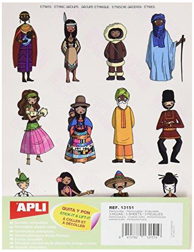 tickern–Charaktere 3herausnehmbare Bögen (Müll Tasche Kostüm)