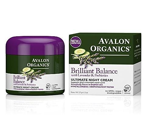 Avalon Organics Brilliant Balance Lavender and Prebiotics Ultimate Night Cream 57 Grams
