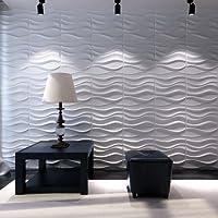 Paneles Decorativos 3D - Lake - 50X50-12 Paneles = 3 M/2 - FACILES DE Montar - ECOLOGICOS - Pulpa DE Bambu