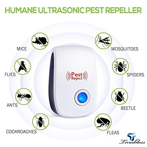 Tinabless Repellente ad Ultrasuoni e Elettromagnetico per Topi, Scaccia Anti Insetti, Ratti,...