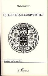 Qu'est-ce que l'université ?