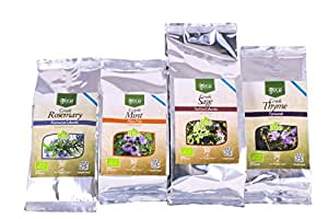 Organic Mint Rosemary Sage & Thyme Dry Rub Spices – Natural Greek Dried Herb Mix – Authentic Spice Blend – Premium Quality Seasoning – Perfect for Meat, Paleo, Vegetarian & Vegan Dishes