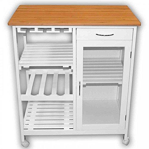 1PLUS Küchenwagen Servierwagen in versch. Designs (Carlotta - weiß)