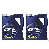 MANNOL 2 x 4L Outboard Marine/API TD NMMA TC-W3 2-Takt Bootsmotoröl