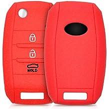 kwmobile Funda de silicona para llave de 3-4 botones para coche Kia - cover de llave - key case en rojo