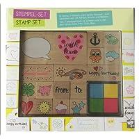 Juego de sellos Stamp Set Creativo diseñar sello almohada regalo de Navidad