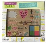 Stempel Set Stamp Set kreativen Gestalten Stempelkissen Weihnachtsgeschenk