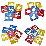 Ailiebhaus 24 Zeichenschablone Tiere Mitgebsel Kunststoff Malerei für Kinder (24P)