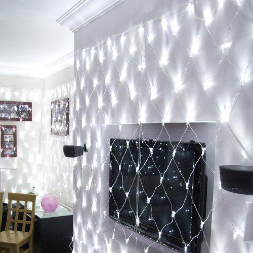 Filet Lumineux 8m x 2m avec 560 LED Blanches pour Intérieur ou Extérieur, Type CC par Lights4fun