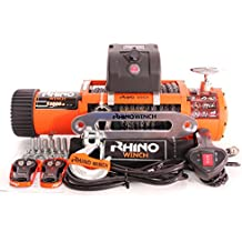 24V 4x 4recuperación Cabrestante 13500lb sintético cuerda–Heavy Duty–dos mandos a distancia