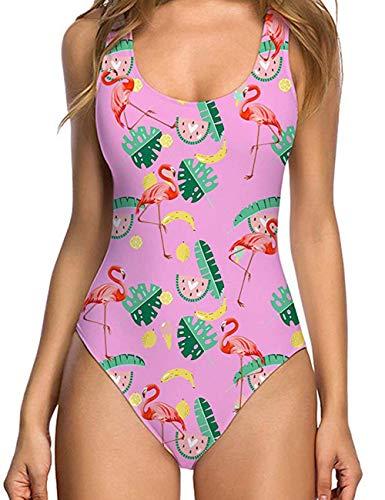 teiler Badeanzug Flamingo Gepolsterte Schwimmen Kostüm ()