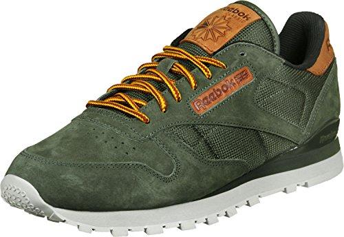 Reebok Herren Classic Leather Ol Sneakers oliv grün braun