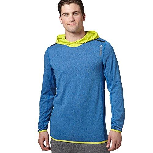 Reebok One Series da uomo, da corsa con cappuccio Blue X-Small