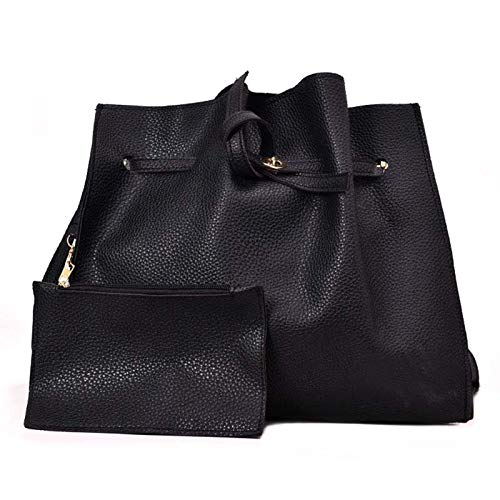 en Schulter Umhängetasche Brieftasche Pu-Leder Einfarbig für Handy Geld Dating Einkaufen Messenger Bags Cross-Body Top-Griff Schulter ()