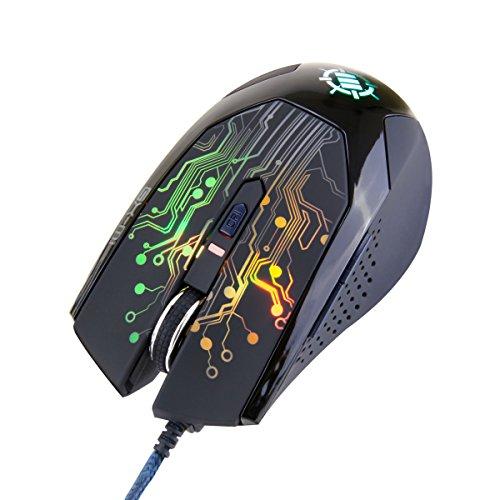 (Hersteller Renoviert) Verbessern gx-m1LED Gaming Maus mit 3500DPI, optischer Sensor & ändernden Lichter für PC Computer-Ideal für MOBA (, FPS, und Mehr