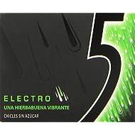 5 - Electro - Chicle sin azúcar con sabor a hierbabuena - 12 láminas