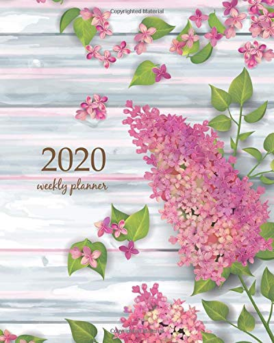 2020 Weekly Planner: Calendar Schedule Organizer Appointment Journal Notebook and Action day With Inspirational Quotes  Spring top view wooden ... (Weekly & Monthly Planner 2020, Band 94) Cork Top