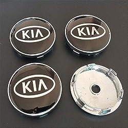 okokk90909o 4PCS 60mm Embouts de moyeu de Centre de Roue Couvercle emblème de Logo de Jante pour la Modification de