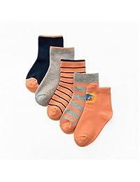 Calcetines para Niños, Morbuy Pack de 5 Pares de antideslizante Calcetines para Niños algodón rico