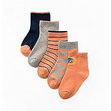 Calcetines para Niños, Morbuy Pack de 5 Pares de antideslizante Calcetines para Niños algodón rico (XL, F)