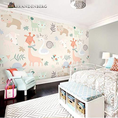 ZCHENG 3D Nordic Hand Drawn Kinder Cartoon Tier Schlafzimmer TV Hintergrund Wand Seamless Benutzerdefinierte Wandbild Geometrische Tapete Tapete, 250X175 CM (98.4 Von 68.9 In) - Hand-woven-diamond