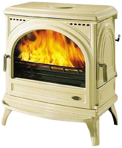Godin - 366102sable - Poêle à bois fonte émaillé 10.5kw sable CARVIN
