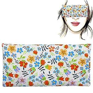 """Augenkissen""""Floret"""", Lavendel Samen und Reis, Yoga, Meditation, Entspannung, für Ihre Augen"""