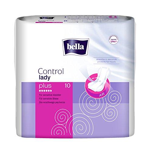 bella Control Lady Hygieneeinlagen Plus 10 Stück, 4er Pack (4 x 10 Stück)/ für mittlere Blasenschwäche