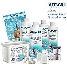 Metacril Kit para Spa y Jacuzzi a base de cloro – Kit Chlor Spa – Ideal