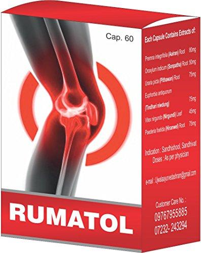 Ujwala Ayurvedashram Rumatol Joint Muscle & Knee Pain Fast Relief Capsule- 60 Cap
