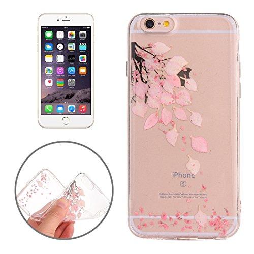 MXNET Case für iPhone 6 & 6s Epoxy Dripping gepresste echte getrocknete Blume weiche transparente TPU Schutzhülle ,Iphone 6/6s Case ( SKU : Ip6g2996a ) Ip6g2996d