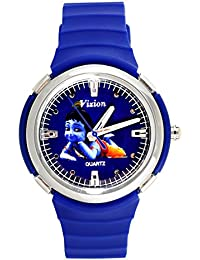 Vizion Analog Blue Dial (The Little Krishna) Cartoon Character Watch for Kids-8828-2-1