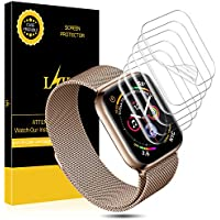 L K [6 Piezas] Protector de Pantalla para Apple Watch (42mm Series 3/2/1 44mm Series 4 Compatible), Liquid Skin [Sin Burbujas] HD Film Flexible Transparente con Garantía de reemplazo de por Vida