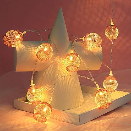 Prevently Weihnachtsbeleuchtung Warmes Weiß 1.5m / 10 LED Lichterkette Batterie für Weihnachtsbaum, Weihnachtsdeko, Hochzeit, Geburtstags, Party -