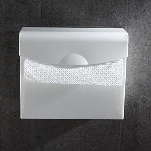 WXFC Raum Aluminium Mauer Montiert Toilette Papier Halter Handtuch Gestell Korb Box zum Gewebe oder Rollen Papier Bad Zubehör, Telefon Halter, 4 Typen Verfügbar, Weiß, 2 -