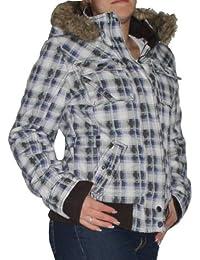 Trendige Urban Surface Damen Winterjacke Gr. XS-XL Jacke Kurzjacke Parka kariert