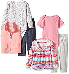 Carters Baby Jacket and Vest Set, Pink Print, 3 Months