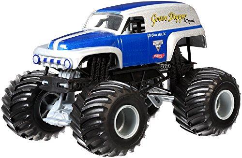 Mattel Hot Wheels CGD67 Metal vehículo de Juguete - Vehículos de Juguete, Camión, Metal, Monster Jam, Grave Digger, 3 año(s)
