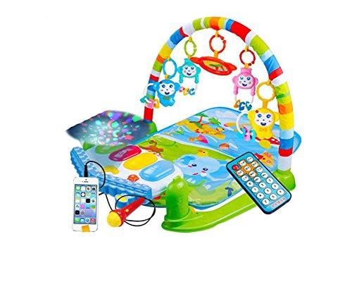 Baby Activity Matte Gym Play Mat Piano Infant Taufgeschenk Smart Spielzeug Fernbedienung ZYS , B