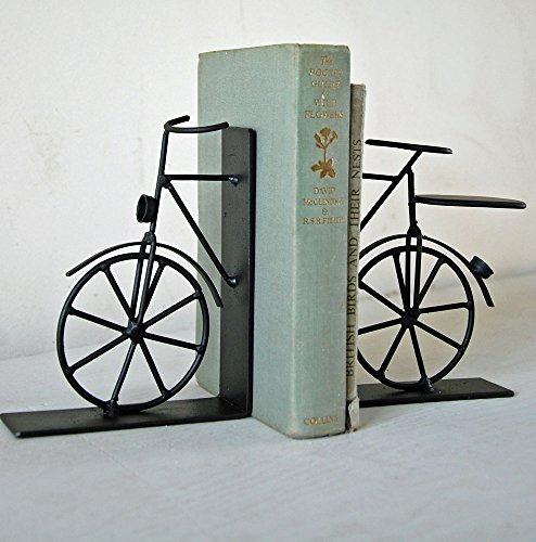 Paar einfach schwarz Buchstützen Fahrrad, Metall