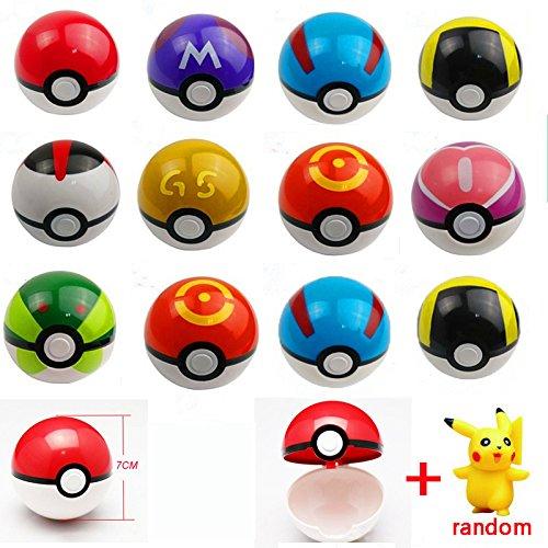 10pcsPokemon Pokebälle Pokeball Plastik Karneval Kostüm Cosplay Nintendo Ash Ketchumb 1 Pokemon-Figuren