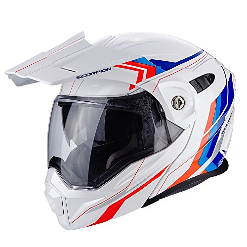 Scorpion ADX-1 Anima Motorradhelm, weiß/rot/blau, Größe XXL