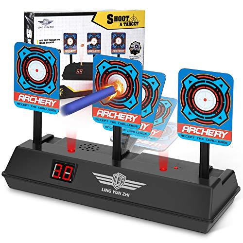 Keten Bersaglio Elettrico per Nerf Guns, Auto-Reset Intelligent Light Sound Effect Scoring Target per Nerf N-Strike Elite/Mega/Rival Series (Solo Bersaglio)