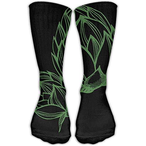 HVCMNVB Beer Hops Women & Men Socks Knee High Long Soccer Sport Tube Stockings Length