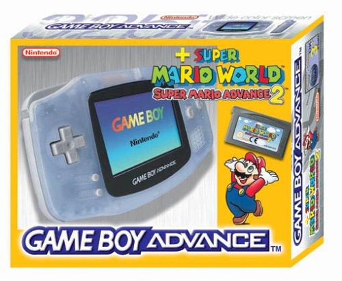 Gameboy Advance Konsole Clear Blue inkl. Super Mario Advance 2