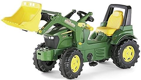 Rolly Toys 710027 Traktor Farmtrac Premium John Deere 7930 + Frontlader | + Kettenantrieb; für ab 3 Jahre; Farbe: Grün